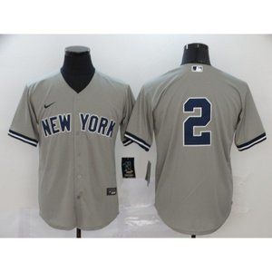 New York Yankees Derek Jeter Gray Game Jersey